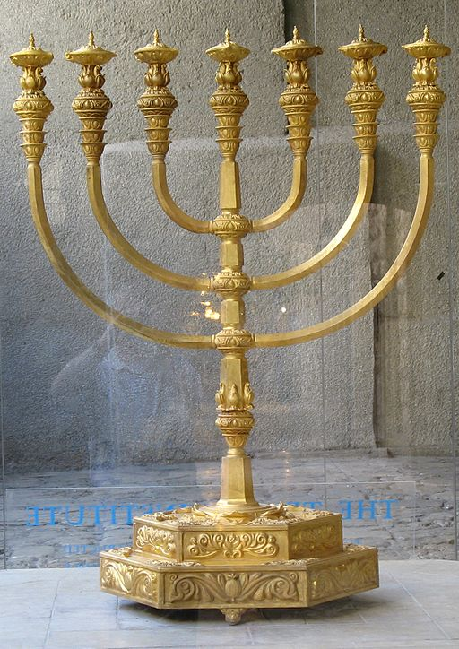 Menorah, used by permission from Wiki Commons, Public Domain