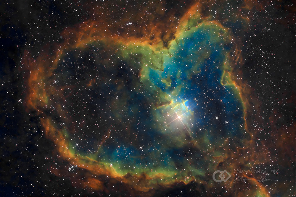 Sh2-190 / IC 1805 - Heart Nebula, Constellation Cassiopeia