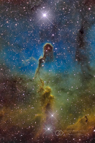 Elephant Trunk Nebula - Sh2-131 / IC 1396, Constellation Cepheus